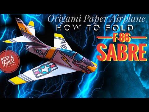 F-86 SABRE Paper airplane.