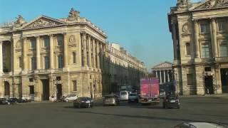 Командировка в Париж. Виды Парижа из окна туристического автобуса