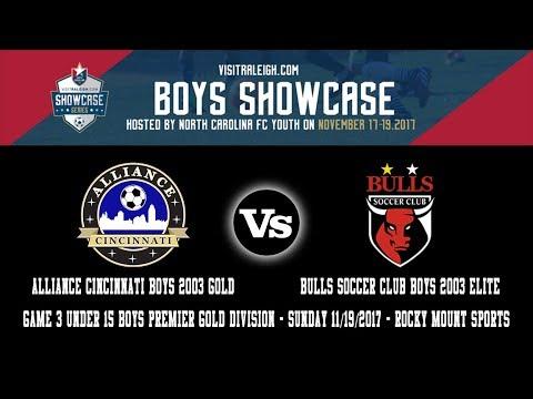 2017 visitRaleigh.com Boys Showcase Game 3 | Alliance Cincinnati 03B Gold Vs BULLS SC 03B Elite