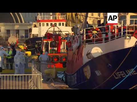 Aid ship carrying 234 migrants docks in Maltese port