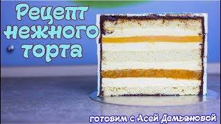 Торт домашний. Рецепт торта с нежной начинкой. Как собрать торт и приготовить бисквитный торт