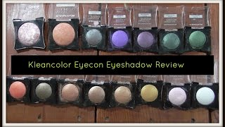 Kleancolor American Eyecon Wet/Dry Eyeshadows Review