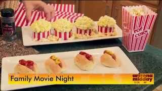 Pop Corn Cupcakes with Mini Hots Dogs and Butter Buns