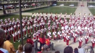 Iowa State University Varsity Marching Band - National Anthem Practice 09122009