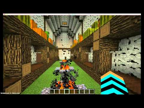 Eastern Woodland Native American Longhouse (minecraft)