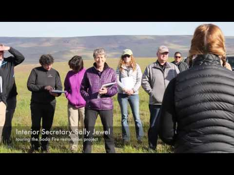 Interior Secretary Jewell visits Idaho, Soda Fire restoration