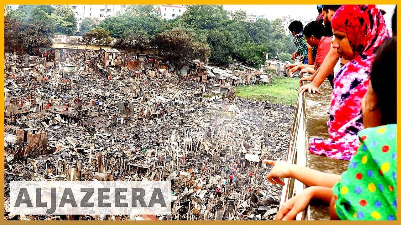 AlJazeera English:Bangladesh slum fire: Thousands left homeless in Dhaka