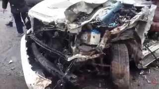 Видео с места ДТП, где погиб Андрiй Кузьменко