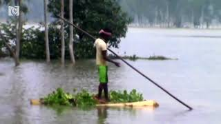 Chief of India's northern state visits flooded areas