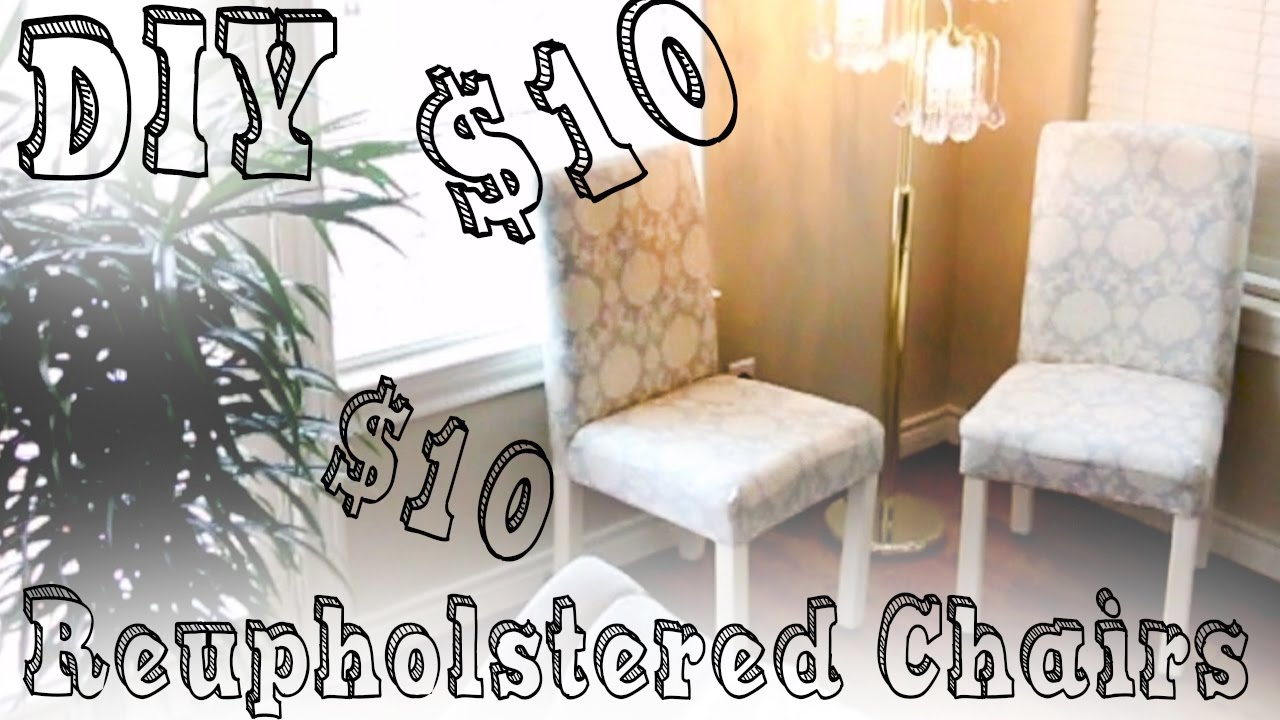 Diy Reupholster Living Room Chair Cute Ways To Decorate Your 10 Chairs Youtube