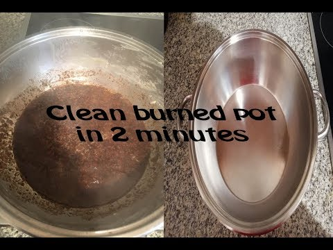 How to clean burned pots and frying pans