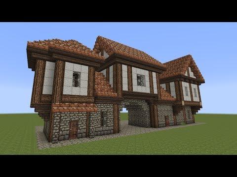 minecraft fachwerkhaus half timbered house 2. Black Bedroom Furniture Sets. Home Design Ideas