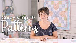 Countdown to Corey Yoder's Top 10 Coriander Quilt Patterns | Fat Quarter Shop