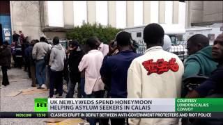 Charity honeymoon: Newlyweds saving refugees from hunger