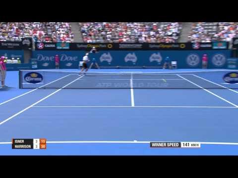 John Isner v Ryan Harrison - Full Match Men's Singles Rd 2: Apia International Sydney 2013
