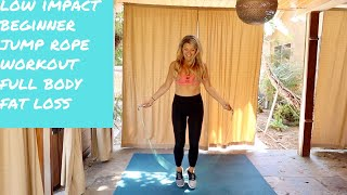 BEST low impact full body jump rope workout for beginners