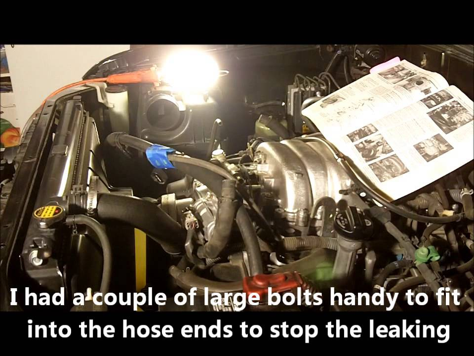2001 to 2006 Toyota Sequoia Throttle Body Remove and Clean - YouTube