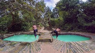 Primitive Technology   Building Bamboo Underground Swimming Pool