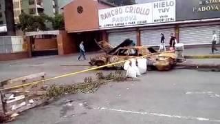 En Los Dos Caminos: trancazo y paro de transporte para acatar Huelga y Paro Cívico Nacional