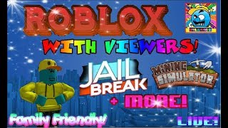 Roblox #13 | PLAYING WITH VIEWERS LIVE! | (sjk livestreams #191)