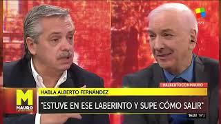 Alberto Fernández mano a mano con Mauro Viale