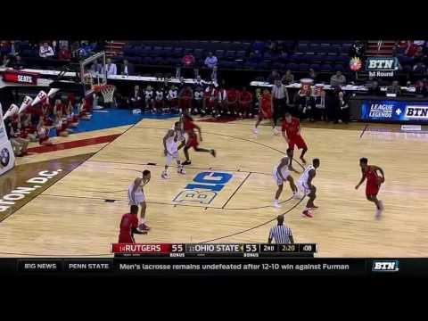 Rutgers vs. Ohio State - 2017 Men's Basketball Tournament Highlights