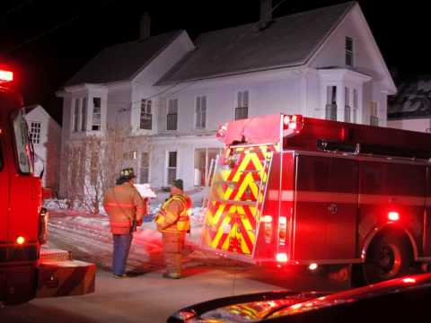 Possible Structure Fire Winter St in Farmington New Hampshire Fire in a electrical fixture