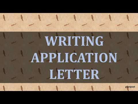 WRITING APPLICATION LETTER