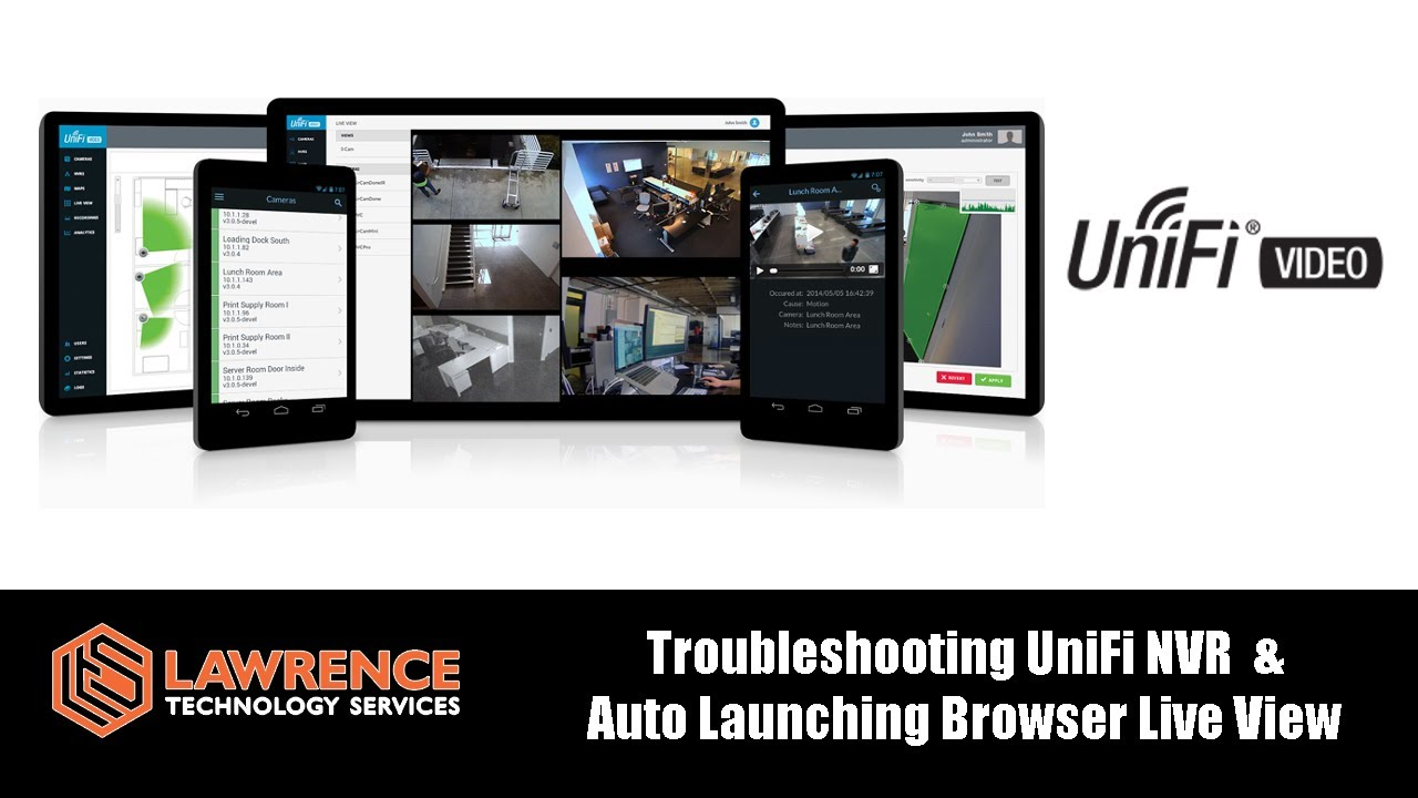 Troubleshooting UniFi NVR Performance Issues & Auto Launching Chrome  Browser Live View