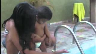 Be na casa da dinda Isa piscina