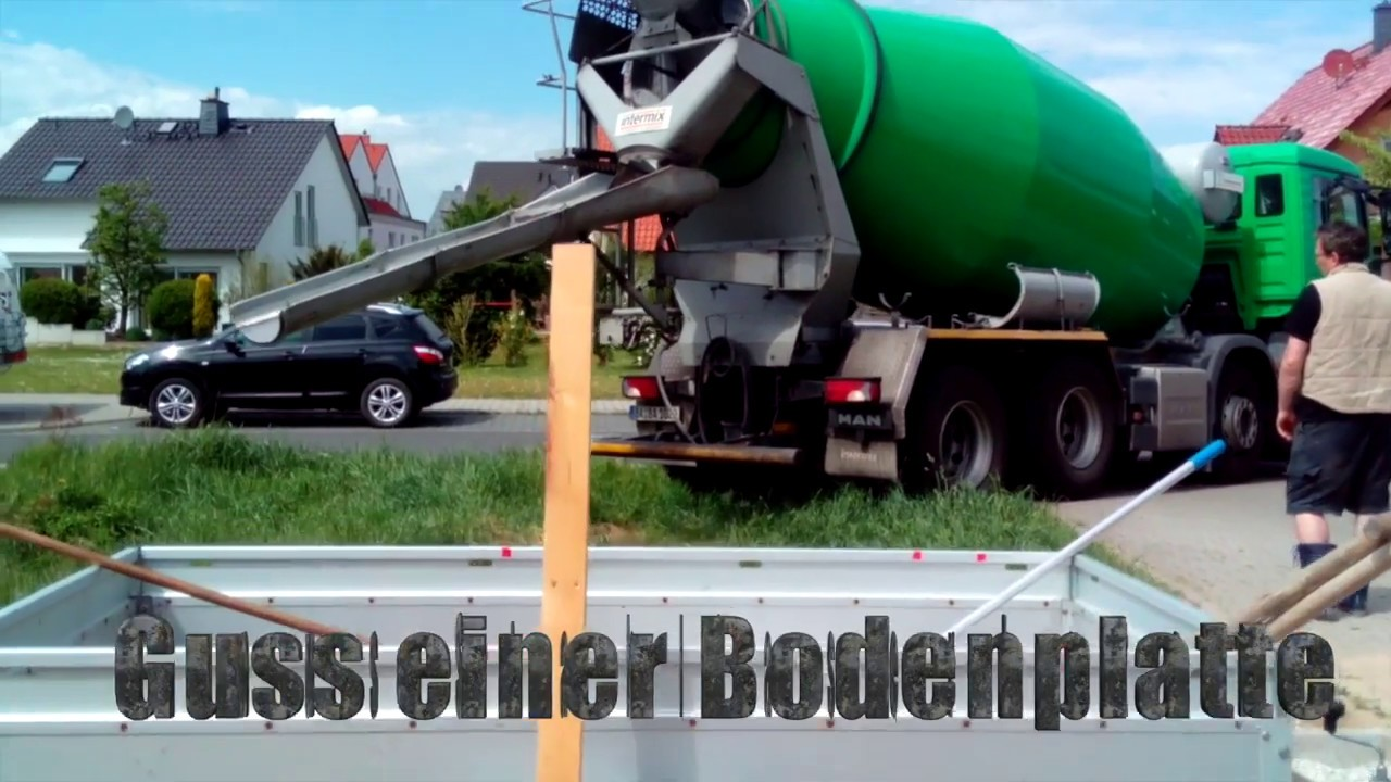 Stahlfaserbeton Bodenplatte Giessen Youtube