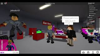 ROBLOX!!! [BLOXBURG] working at Mike's motor's!