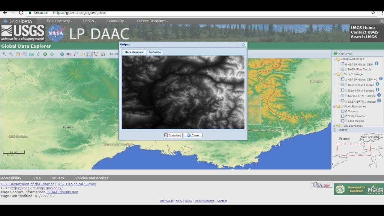 How to download digital elevation model of aster nasa and nga youtube how to download digital elevation model of aster nasa and nga gumiabroncs Choice Image