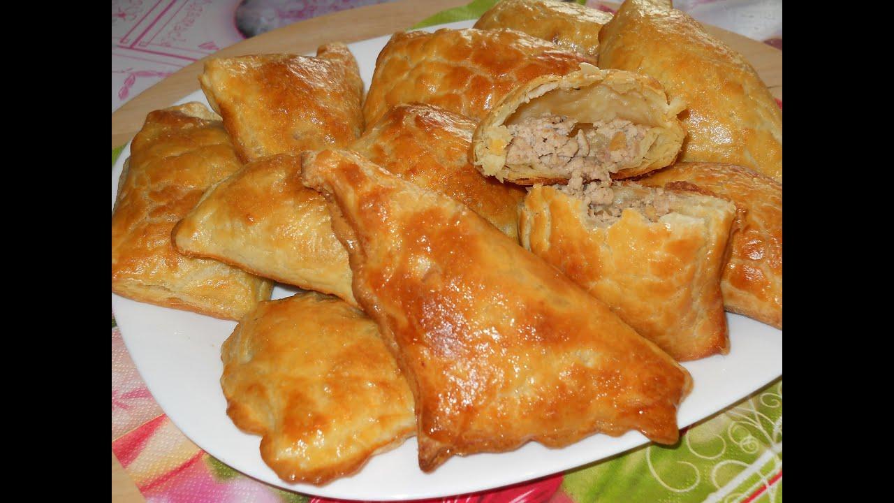 Пирожки из готового дрожжевого слоеного теста