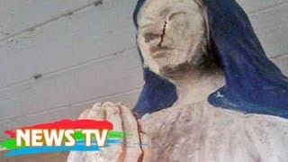 Bức tượng Đức mẹ bỗng nhiên khóc ra máu