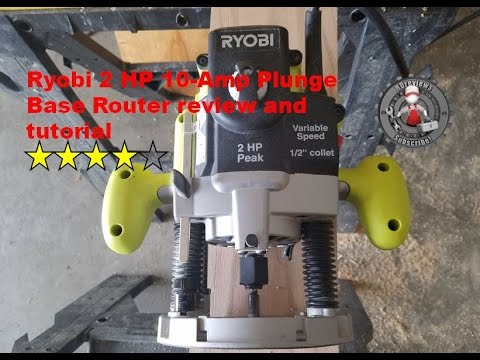 ryobi 2 hp 10-amp plunge router review and tutorial re180pl1g