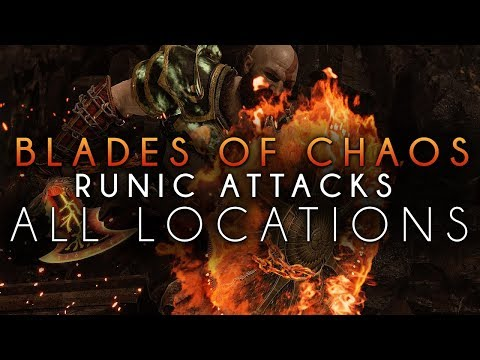 God Of War All Blades of Chaos Runic Attack Location And Showcase (Full Guide)