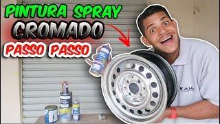 SPRAY CROMADO - CROMANDO RODA PASSO A PASSO!