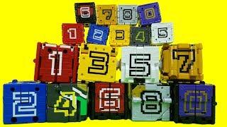 파워레인저 애니멀포스 장난감 미니 큐브 9종 애니멀체인저 애니멀라이트 효과음 소개 Power rangers Mini cube toys