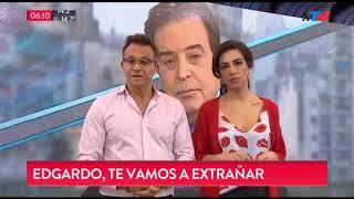 Sergio Lapegüe se emocionó al recordar a Edgardo Antoñana...