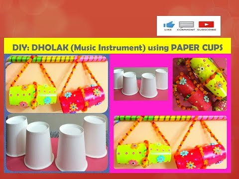 DIY:DHOLAK   HOW TO MAKE INDIAN WEDDING INSTRUMENT   BEST OUT OF WASTE  