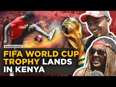 Fifa World Cup trophy lands in Kenya