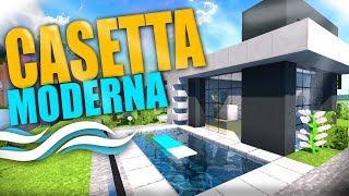 CASETTA MODERNA CON PISCINA ~ Minecraft [Building]