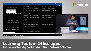 Microsoft Learning Tools in Office Lens, Word Desktop and Word Online