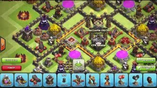 Clash Of Clans NEW UPDATE NEW TH9 FARMING BASE [Free Shield 30%]