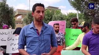 اليرموك .. الطلاب يحتجون ضد ديوان الخدمة المدنية