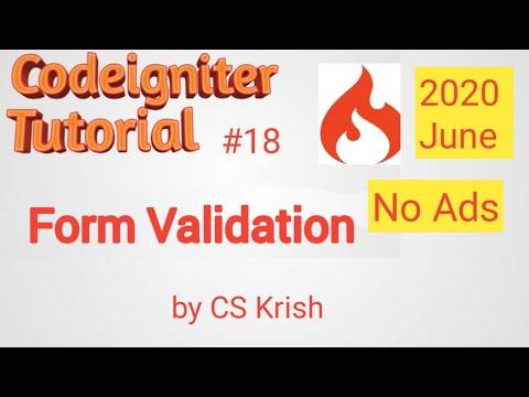 Form Validation Codeigniter Tutorial In Hindi