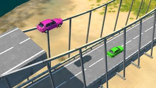 Beamng drive - Car Crashes from Above