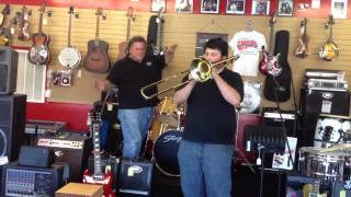 JF Music Nashville TN Trombone Band Vintage Music Lessons