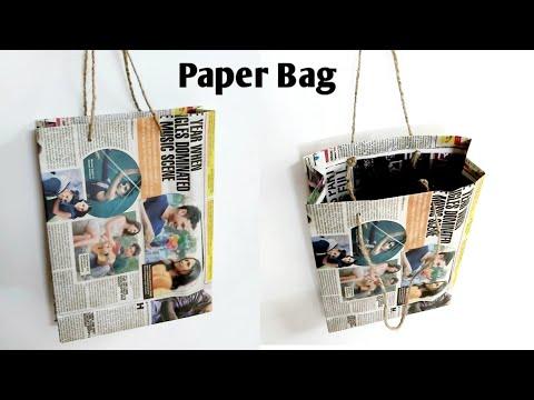 How to make Paper bag easily at home #DIY paper gift bag#paperbag tutorial